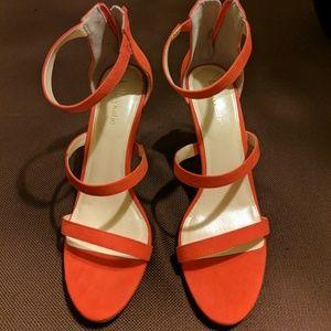 Orange Cleo Suede by Kelly & Kate